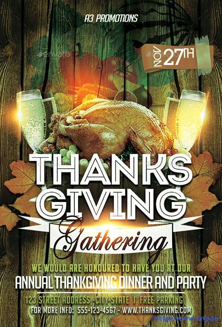 Thanksgiving-Gathering-Flyer-Template