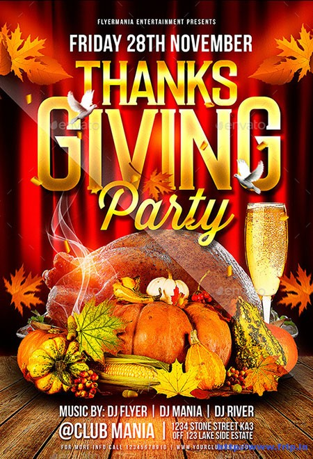 Thanksgiving-Party-Flyer-Template