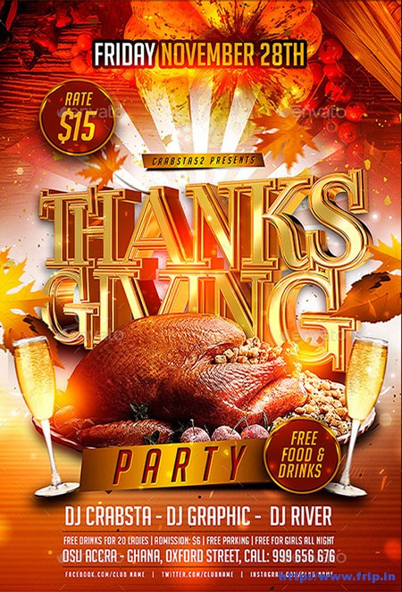 Thanksgiving-Party-Flyer-Templates