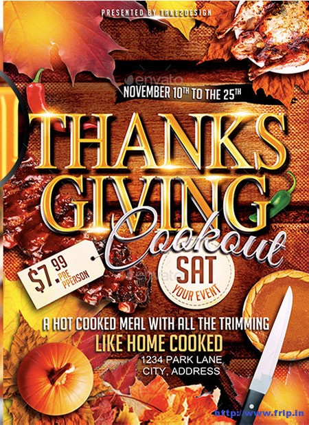 Thanksgiving-Party-Flyer