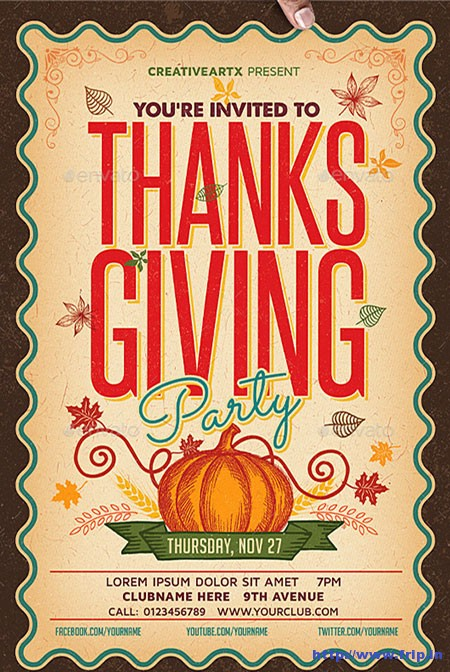 Thanksgiving-Party-Flyers