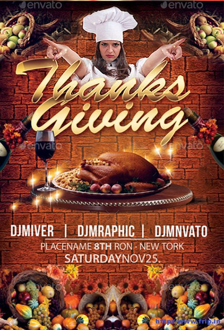 Thanksgivings-Flyers-Templates