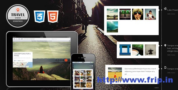 Travel FullScreen Responsive WordPress Theme