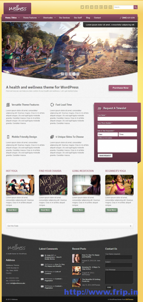 Wellness A Health & Wellness WP Theme