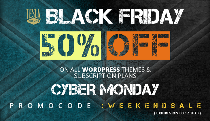 tesla themes black friday wordpress deals