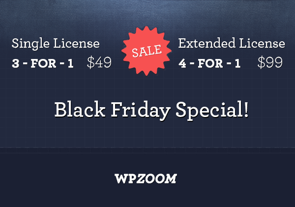 wpzoom black friday wordpress deals