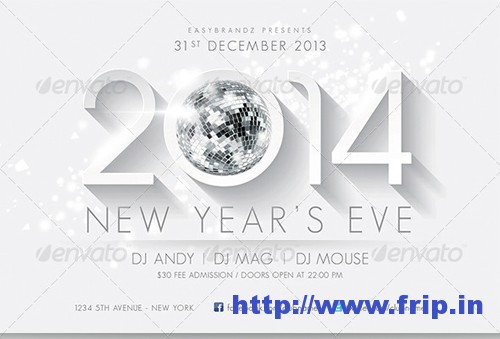 2014 New Year's Flyer Template