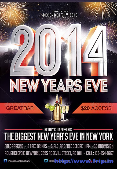 2014 New Year Eve Flyer Template