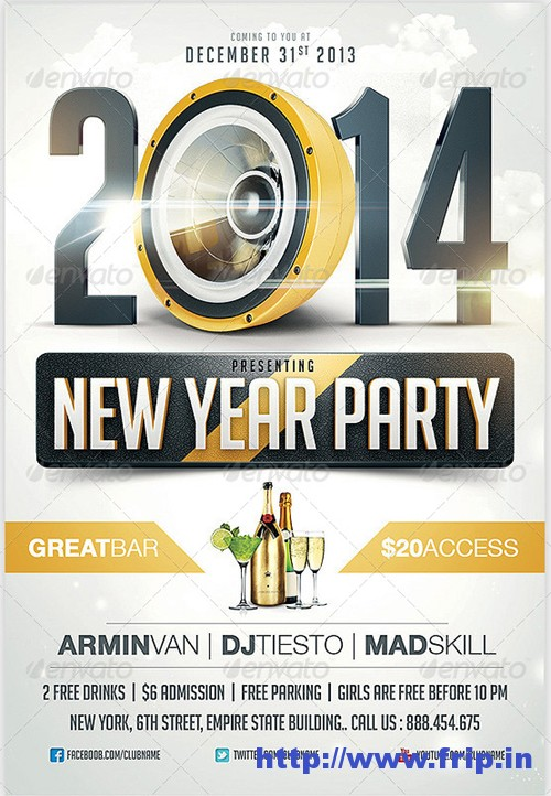 2014 New Year Eve Party Flyer