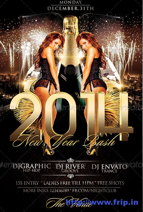 2014 New Year Party Flyer Template