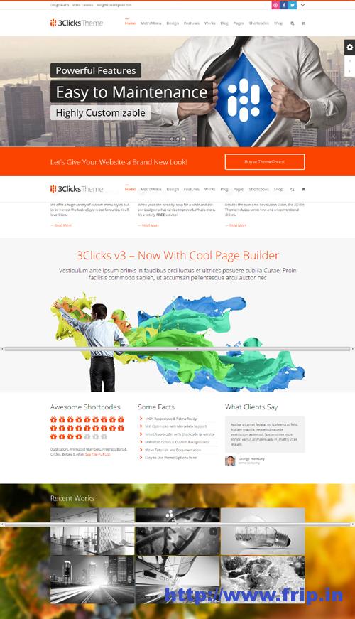 3Clicks Responsive WordPress Theme