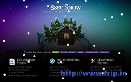 5 Sec Snow WordPress Plugin