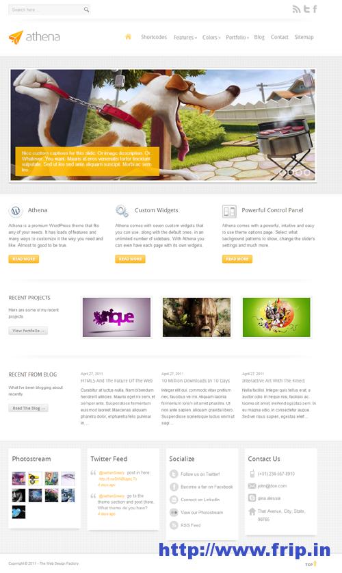 Athena Business Portfolio WordPress Theme