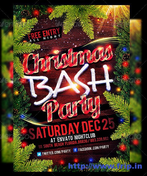 Christmas Party Flyer Templatees