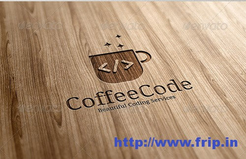 Coffee Code Logo Template