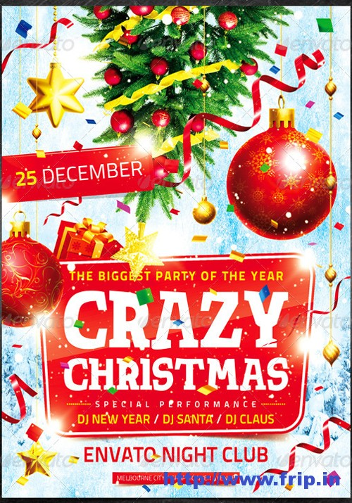 Crazy Christmas Flyer Template