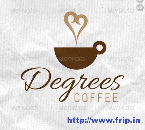Degrees Coffee Logo Template