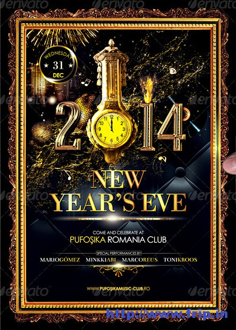 Deluxe New Year Poster Flyer