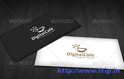 Digital Cafe Logo Template