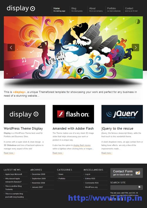 Display 3 in 1 WordPress Theme