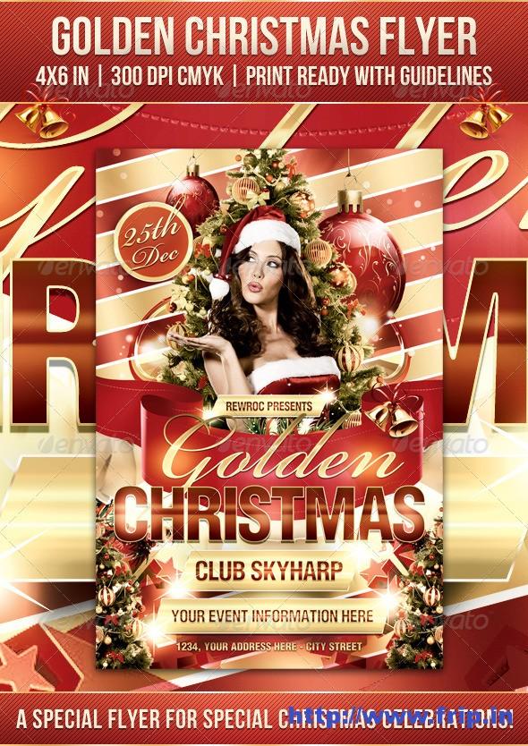 Golden Christmas Flyer Template
