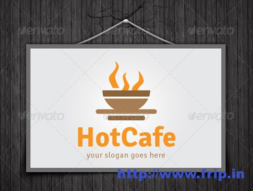 Hot Cafe Logo Template