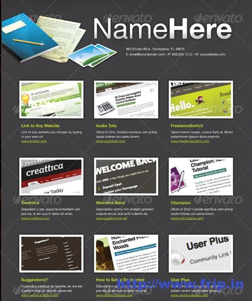 Interactive PDF Portfolio Template