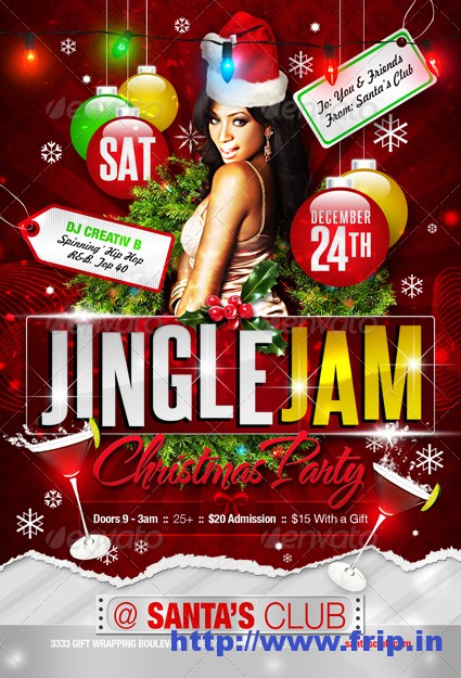 Jingle Jam Party Flyer Template
