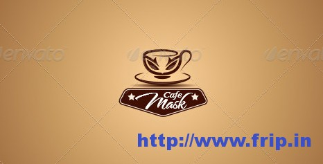 Mask Cafe Logo Template