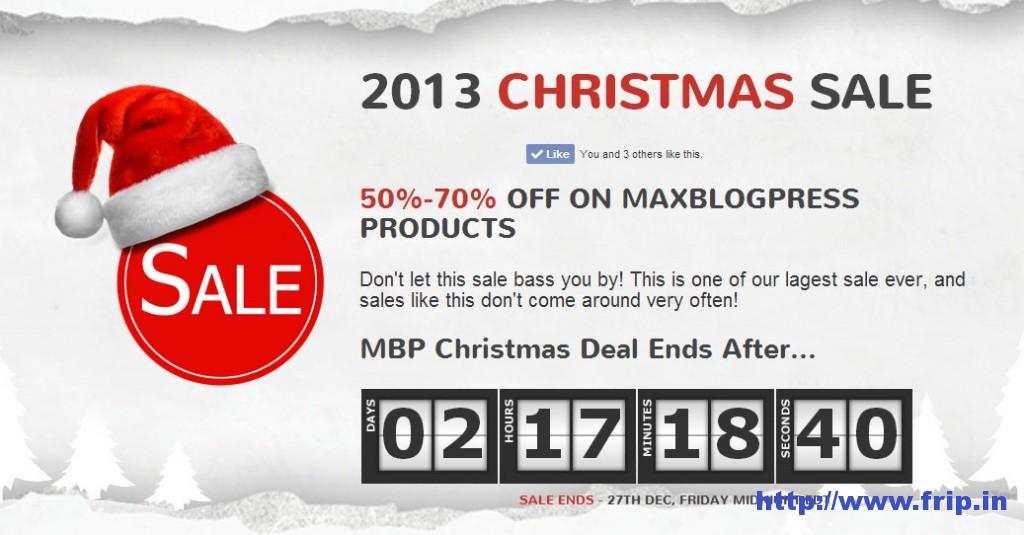 MaxBlogPress Christmas Deals