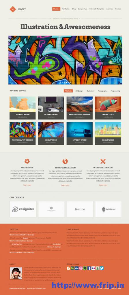 Mozzy Portfolio Business WordPress Theme