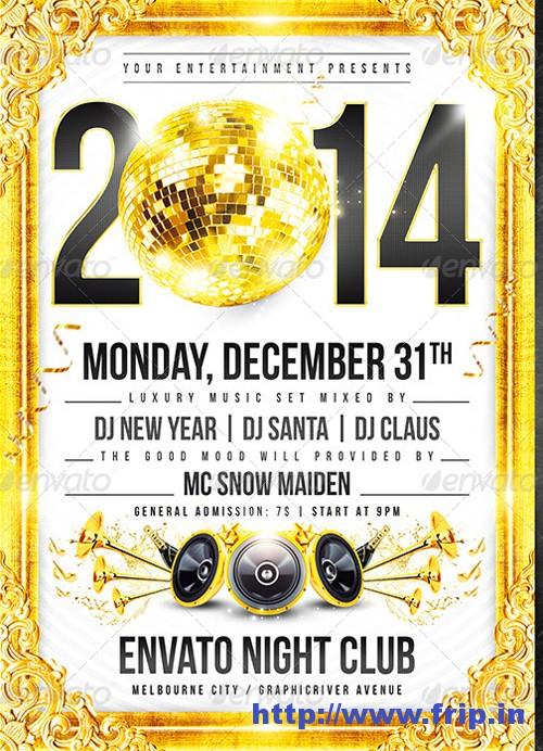 New Year 2014 Disco Flyer