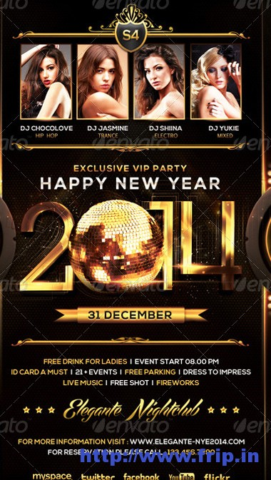 New Year 2014 Flyer Template