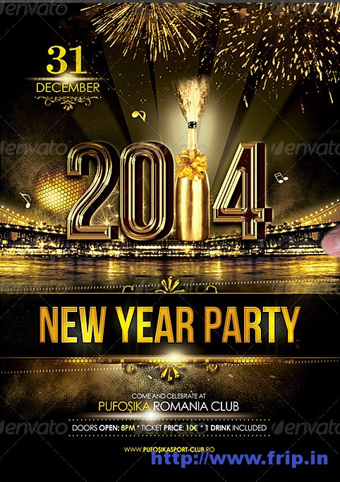 New Year Party Poster Flyer
