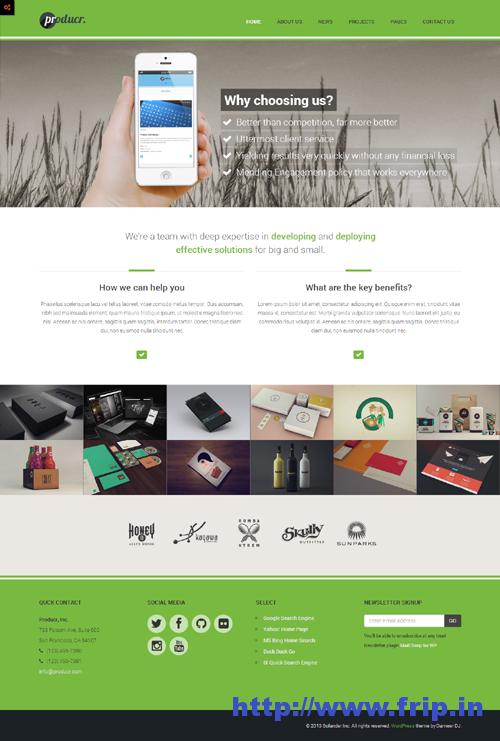 Producr  Business Folio WordPress Theme