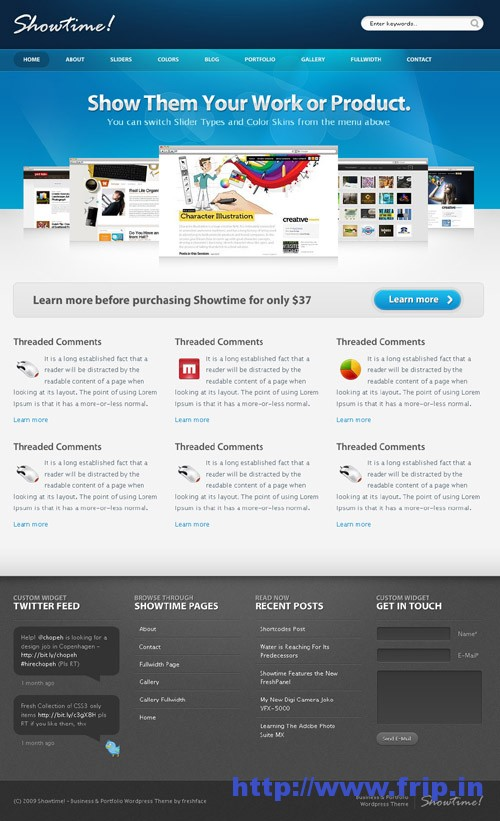 Showtime Business & Portfolio WordPress Theme