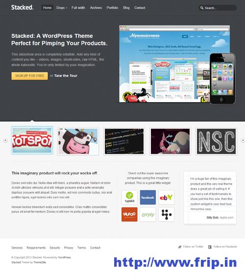 Stacked Business & Portfolio WordPress Theme