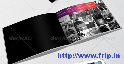 photograph relating to Printable Portfolio Template referred to as Perfect 40 Portfolio Brochure Layout Print Templates Frip.inside