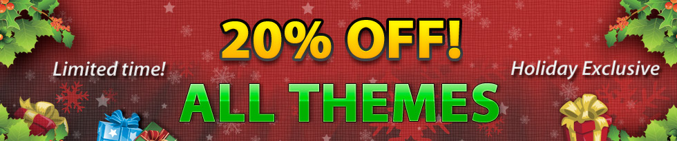 gorilla themes christmas deal