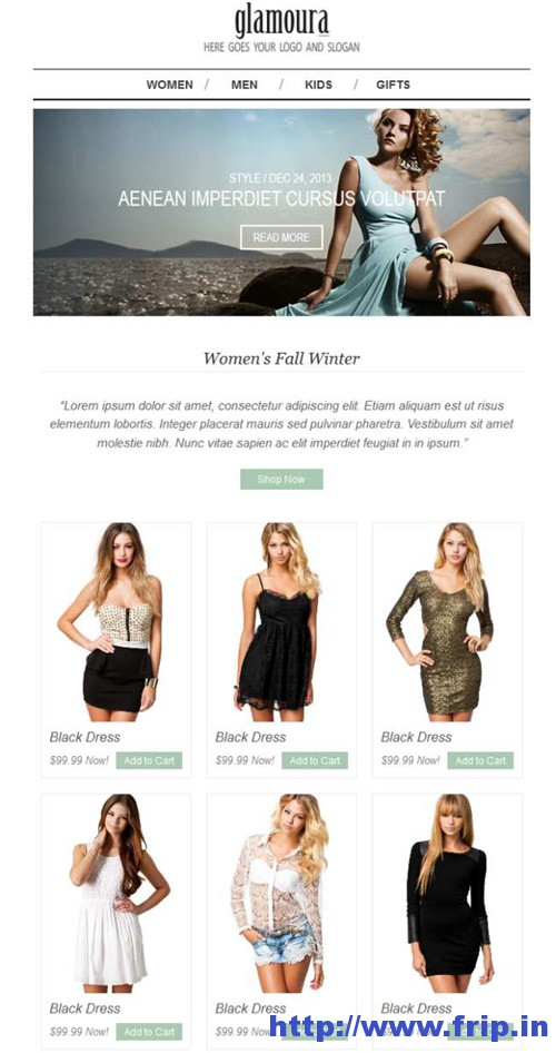 Glamoura Responsive Email Template