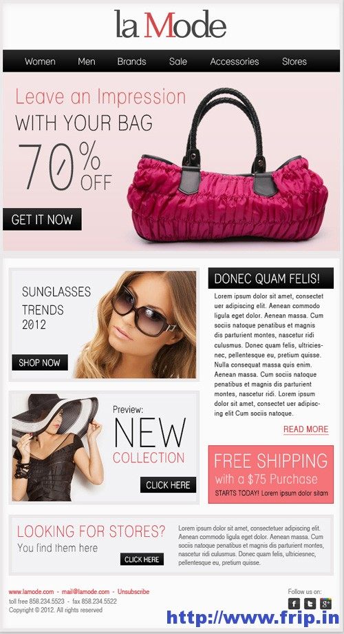 Best 40 Shopping eCommerce Email Templates | Frip in