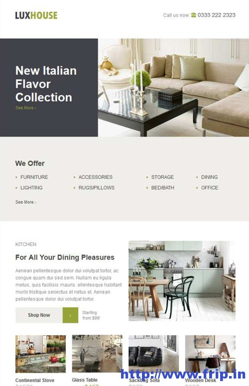 LuxHouse eCommerce Email Template