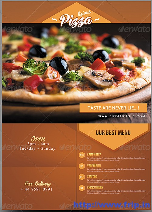 Pizza Flyer Template Images Template Design Free Download