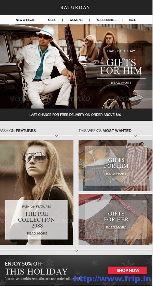 Saturday Responsive Email Template