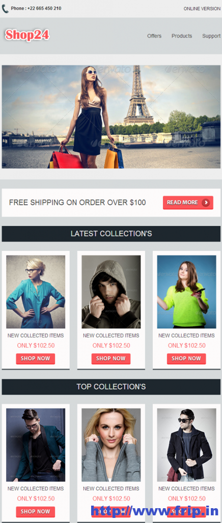 Shop 24 Professional Responsive Email Template