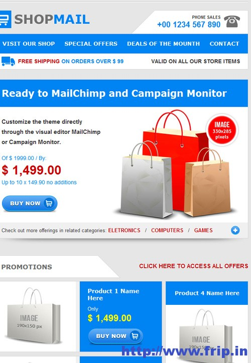 Shop Mail Email Template