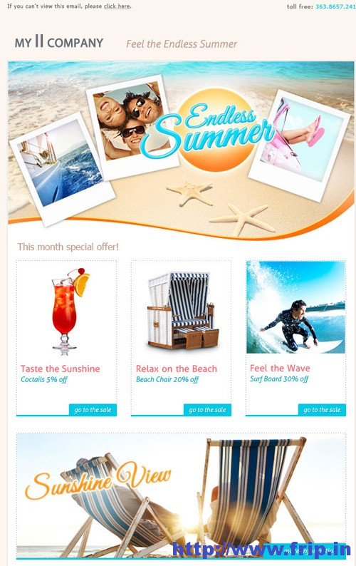 Summer Blast Email Template