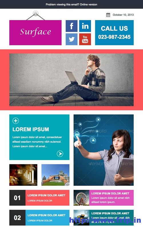 Surface Colorful Responsive Email Template