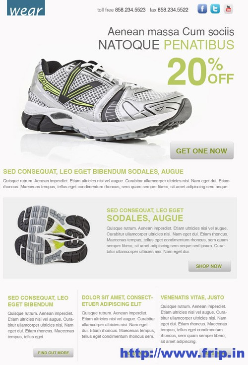 Wear Blast Email Template