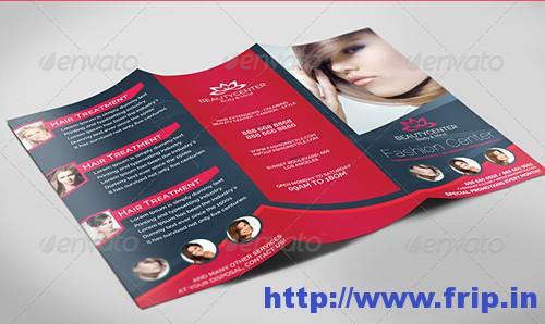 Beauty Center Bifold & Tri Fold Brochure